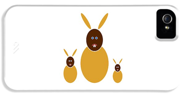 Bunny iPhone 5 Cases - Mustard Bunnies iPhone 5 Case by Frank Tschakert