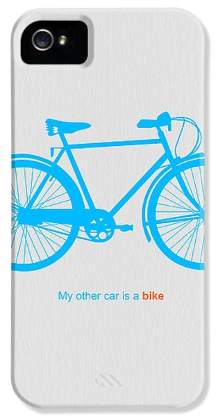 Bicycle iPhone 5 Cases - My Other Car Is A Bike  iPhone 5 Case by Naxart Studio