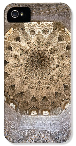 Andalusia iPhone 5 Cases - Nasrid Palace ceiling iPhone 5 Case by Jane Rix