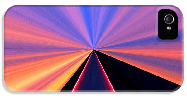 Diffusion iPhone 5 Cases - Neon Pinnacle iPhone 5 Case by Will Borden