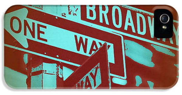 Capital iPhone 5 Cases - New York Broadway Sign iPhone 5 Case by Naxart Studio