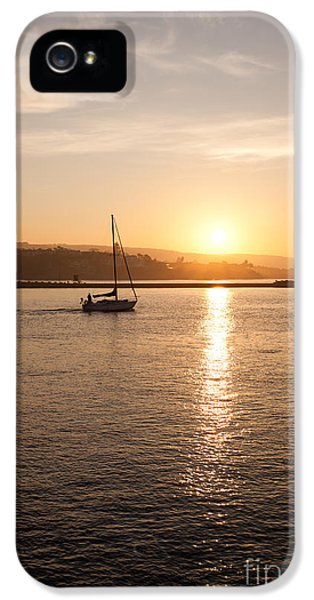 Newport Harbor iPhone 5 Cases - Newport Bay Corona Del Mar Sunrise iPhone 5 Case by Paul Velgos