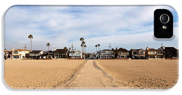 Balboa iPhone 5 Cases - Newport Beach Balboa Peninsula Houses iPhone 5 Case by Paul Velgos