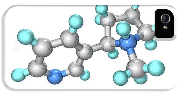 Nicotine iPhone 5 Cases - Nicotine Drug Molecule iPhone 5 Case by Laguna Design