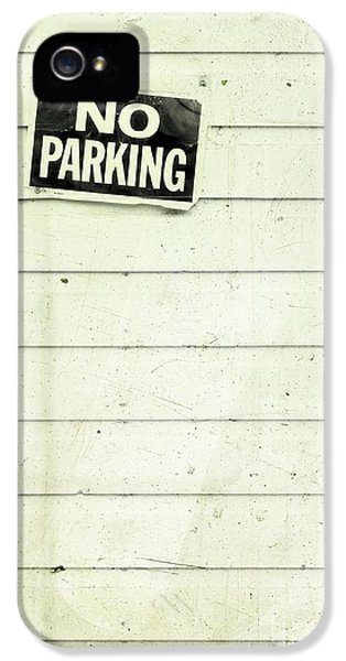 No iPhone 5 Cases - No Parking iPhone 5 Case by Priska Wettstein