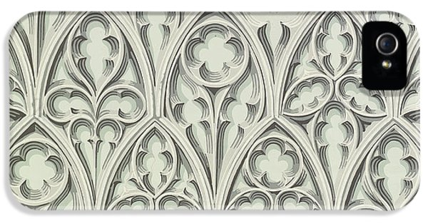 Arts And Crafts Movement iPhone 5 Cases - Nowton Court iPhone 5 Case by Augustus Welby Pugin