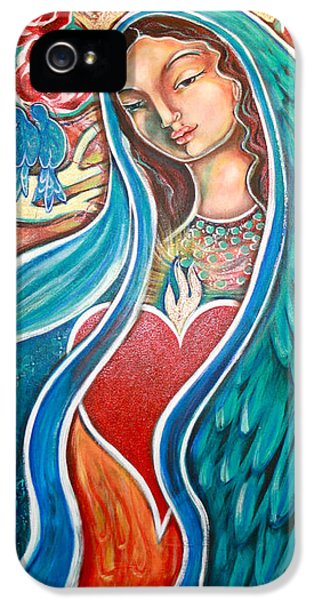 Creativity iPhone 5 Cases - Nuestra Senora Maestosa iPhone 5 Case by Shiloh Sophia McCloud