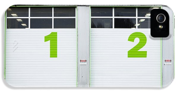 Diagnostic iPhone 5 Cases - Numbers On Repair Shop Bay Doors iPhone 5 Case by Don Mason