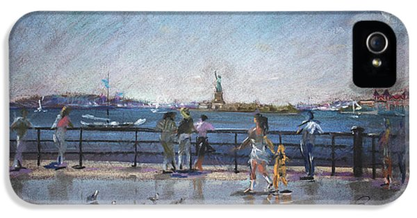 Hudson River iPhone 5 Cases - NYC Grand Ferry Park 2 iPhone 5 Case by Ylli Haruni