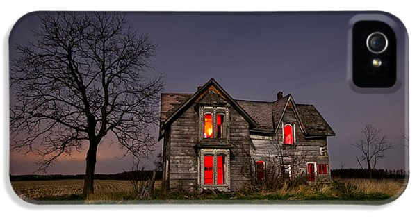 Creepy iPhone 5 Cases - Old Farm House iPhone 5 Case by Cale Best
