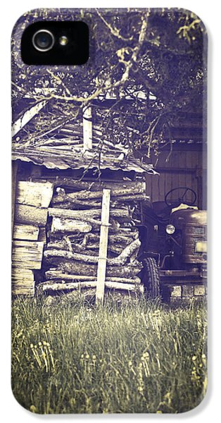 Firewood iPhone 5 Cases - Old Shed iPhone 5 Case by Joana Kruse