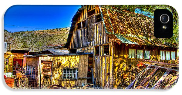 Shanty iPhone 5 Cases - Old Shed iPhone 5 Case by Jon Berghoff