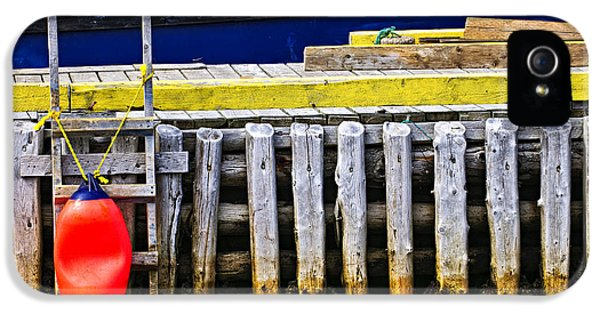 Ladder iPhone 5 Cases - Old wooden pier in Newfoundland iPhone 5 Case by Elena Elisseeva