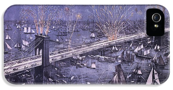Fire Works iPhone 5 Cases - Opening of the Great New York and Brooklyn Bridge and grand display of fire works iPhone 5 Case by American School