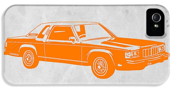 Ford Classic Car iPhone 5 Cases - Orange Car iPhone 5 Case by Naxart Studio