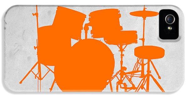 Chair iPhone 5 Cases - Orange Drum Set iPhone 5 Case by Naxart Studio
