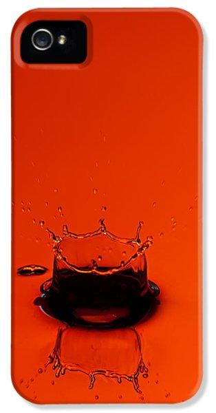 Water Drop iPhone 5 Cases - Orange Splash iPhone 5 Case by Steve Gadomski