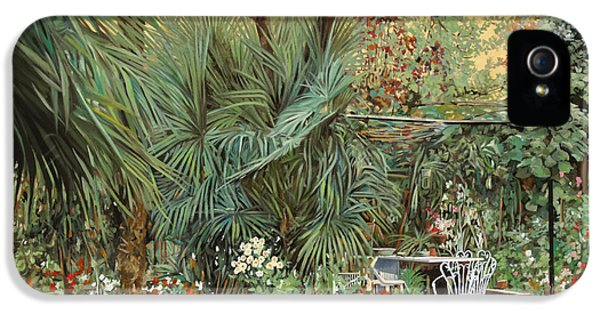 Tables iPhone 5 Cases - Our Little Garden iPhone 5 Case by Guido Borelli