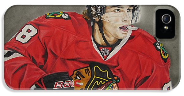 National League iPhone 5 Cases - Patrick Kane iPhone 5 Case by Brian Schuster