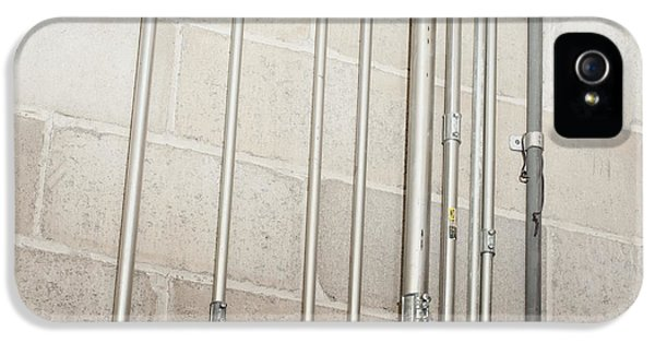 Ductwork iPhone 5 Cases - Pipes on a Concrete Wall iPhone 5 Case by Shannon Fagan
