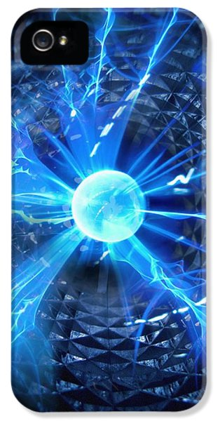Sparking iPhone 5 Cases - Plasma Sphere iPhone 5 Case by Richard Kail