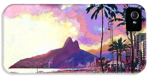 City Scene iPhone 5 Cases - Ipanema at Sunset iPhone 5 Case by Douglas Simonson