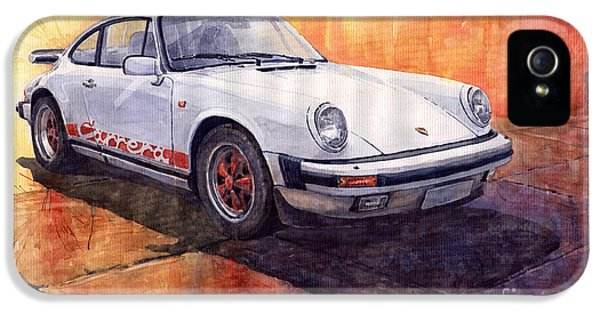 Vintage Cars iPhone 5 Cases - Porsche 911 Carrera iPhone 5 Case by Yuriy  Shevchuk