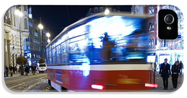 Old Tram iPhone 5 Cases - Prague tram iPhone 5 Case by Stylianos Kleanthous