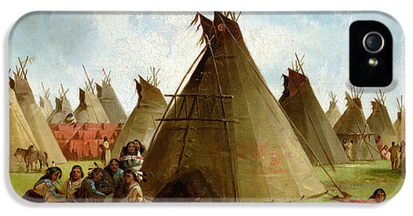 Prairie Indian Encampment IPhone 5 / 5s Case by John Mix Stanley