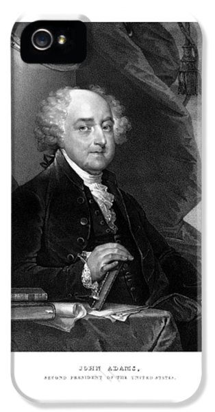 July 4th iPhone 5 Cases - President John Adams iPhone 5 Case by War Is Hell Store