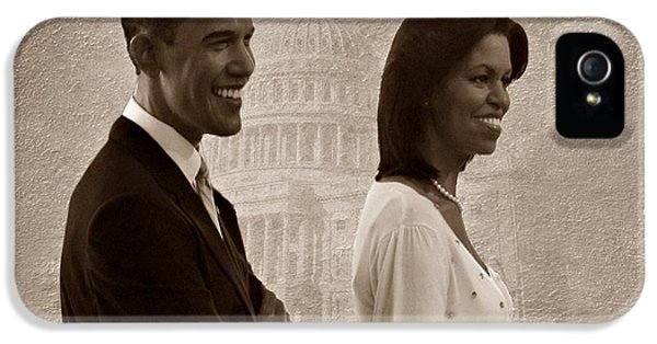 President Obama iPhone 5 Cases - President Obama and First Lady S iPhone 5 Case by David Dehner