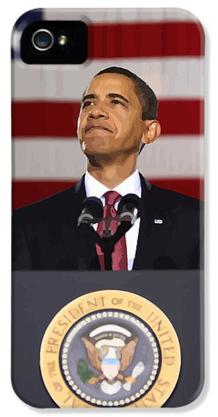 Obama iPhone 5 Cases - President Obama iPhone 5 Case by War Is Hell Store