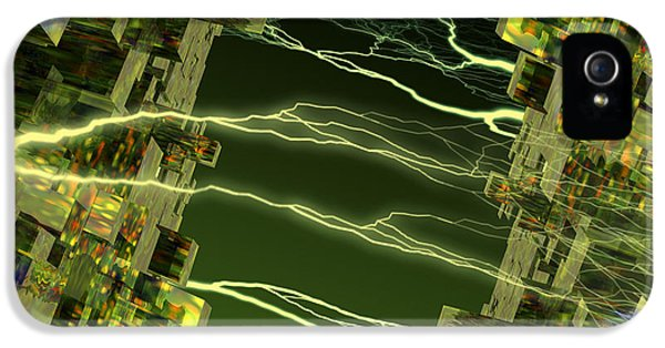 Sparking iPhone 5 Cases - Processor Power iPhone 5 Case by Victor Habbick Visions