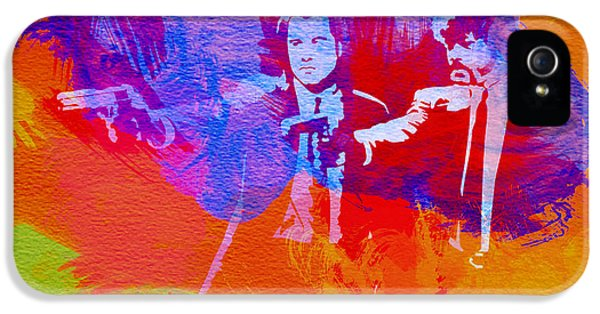 Film Art iPhone 5 Cases - Pulp Fiction 2 iPhone 5 Case by Naxart Studio