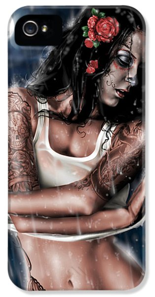 Smiling iPhone 5 Cases - Rain When I Die iPhone 5 Case by Pete Tapang