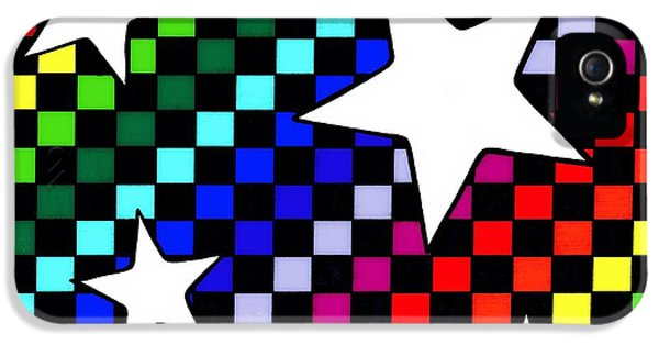 Checker Board iPhone 5 Cases - Rainbow Starboard iPhone 5 Case by Mandy Shupp