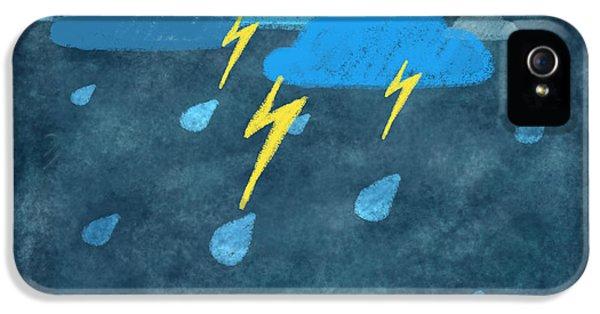 Raining iPhone 5 Cases - Rainy Day With Storm And Thunder iPhone 5 Case by Setsiri Silapasuwanchai