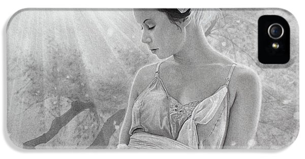 Pencil Drawing iPhone 5 Cases - Rapture in the Light iPhone 5 Case by Tim Dangaran