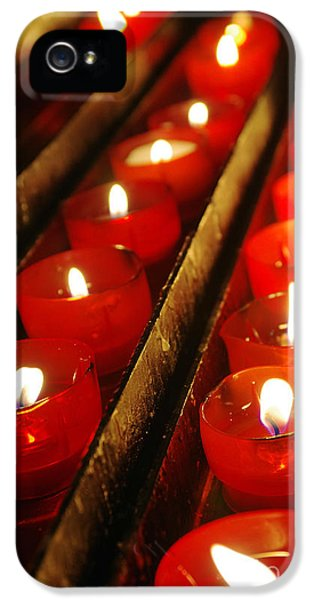 Environment Design iPhone 5 Cases - Red Candles iPhone 5 Case by Carlos Caetano