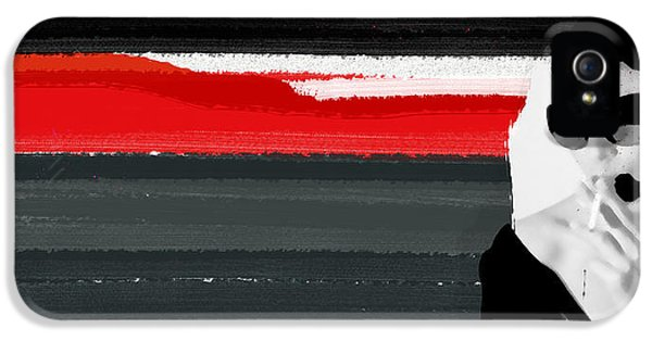 Expressive iPhone 5 Cases - Red Line iPhone 5 Case by Naxart Studio