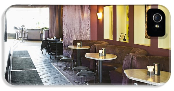 Barstools iPhone 5 Cases - Restaurant Bar Seating iPhone 5 Case by Andersen Ross