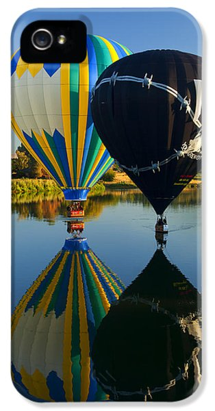 Balloon iPhone 5 Cases - River Dance iPhone 5 Case by Mike  Dawson