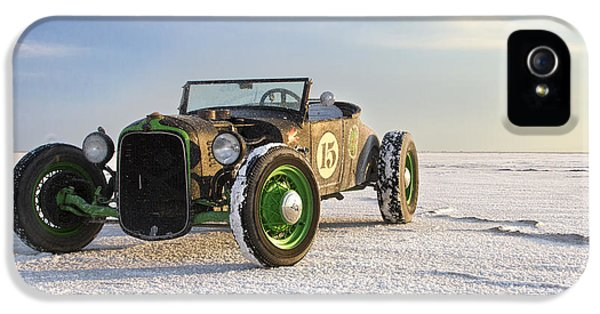 Speed iPhone 5 Cases - Roadster on the Salt Flats 2012 iPhone 5 Case by Holly Martin