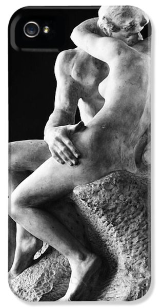 Statue Photographs iPhone 5 Cases - Rodin: The Kiss, 1886 iPhone 5 Case by Granger