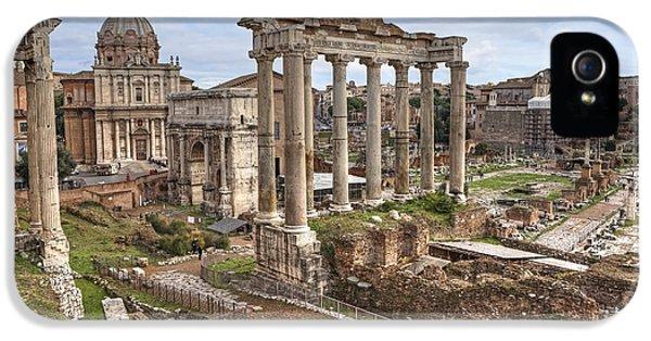 Archeology iPhone 5 Cases - Rome Forum Romanum iPhone 5 Case by Joana Kruse