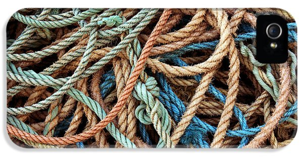 Knot iPhone 5 Cases - Rope Background iPhone 5 Case by Carlos Caetano