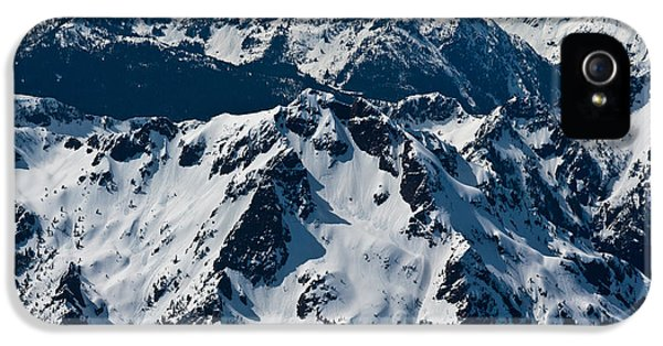 Brother iPhone 5 Cases - Rugged Olympic Mountains iPhone 5 Case by Mike Reid