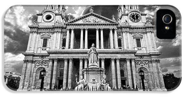 Religious iPhone 5 Cases - Saint Pauls Cathedral iPhone 5 Case by Meirion Matthias