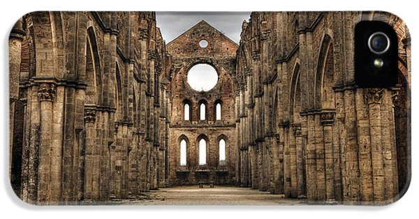 Ruins iPhone 5 Cases - San Galgano  - a ruin of an old monastery with no roof iPhone 5 Case by Joana Kruse