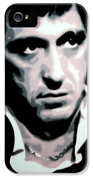 Brian De Palma iPhone 5 Cases - Scarface iPhone 5 Case by Luis Ludzska